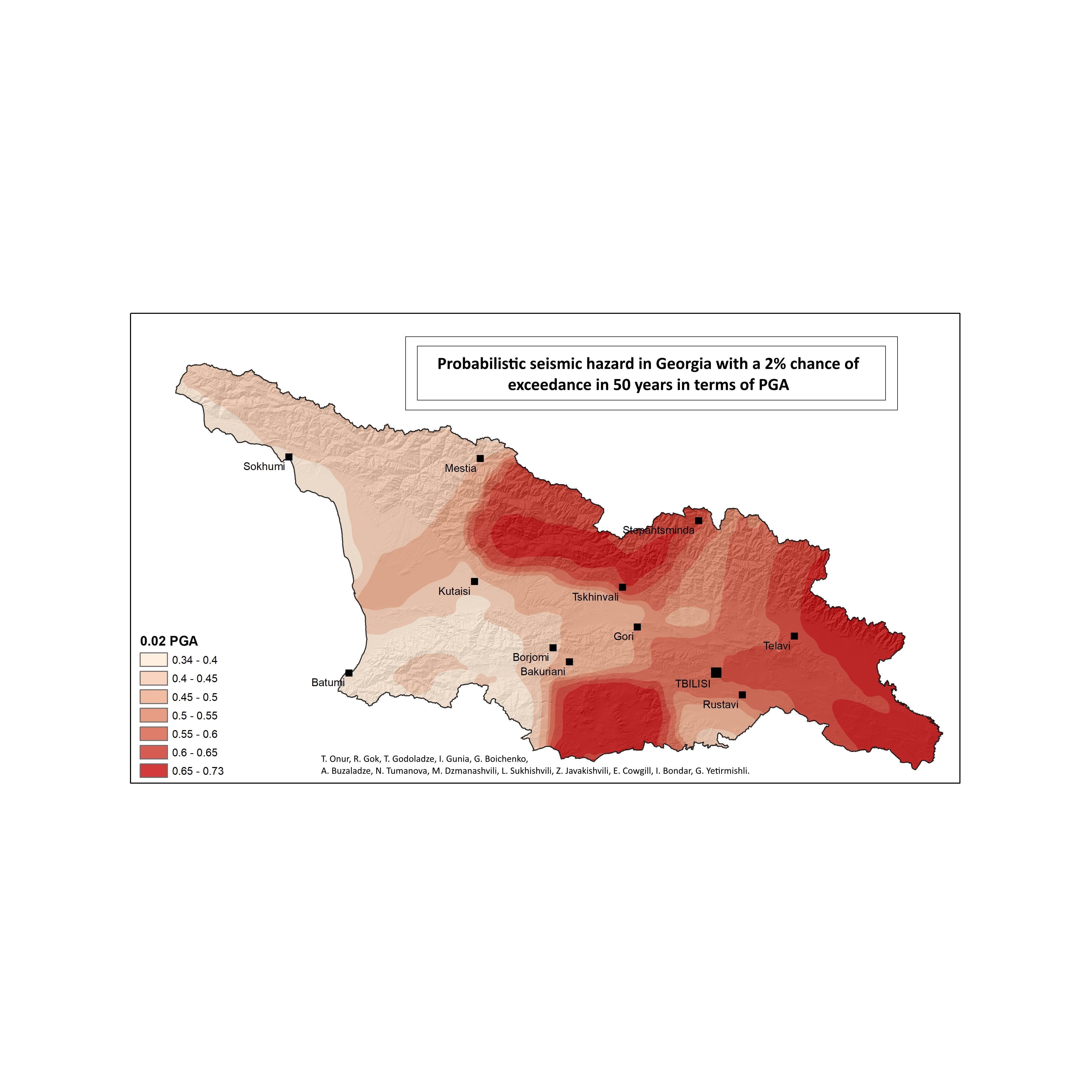 Probabilistic Seismic Hazard Assessment for Georgia